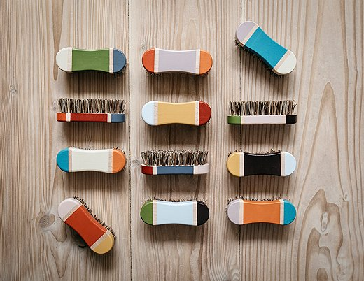 The colors are meant to work together seamlessly and these brushes display only a few color combinations.
