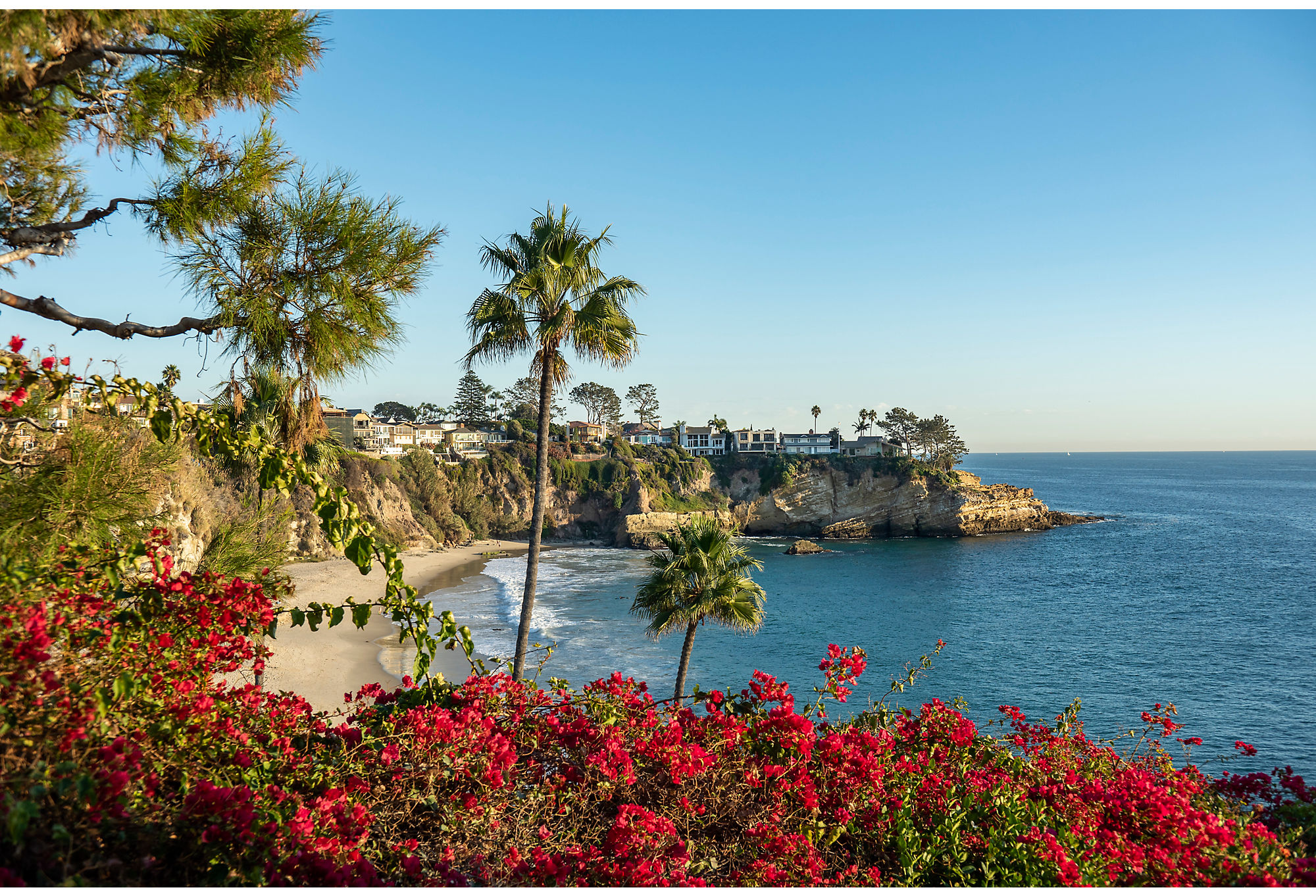 The Southern California home is just a quick walk to a beautiful beach.