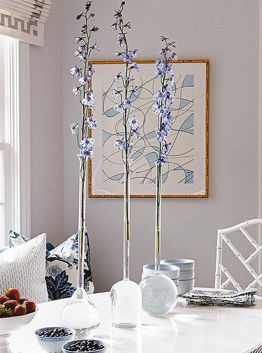 Simple arrangements showcase the power of a single stem.