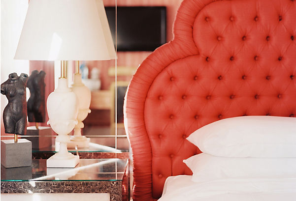 Try a Bold Coral Headboard