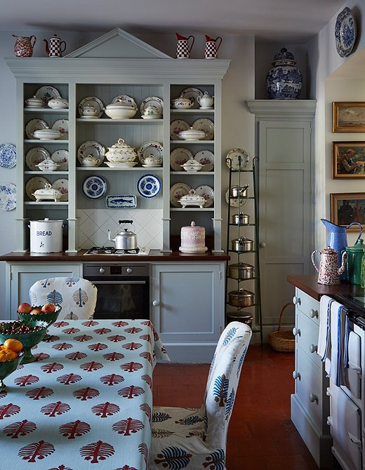 The kitchen of famed British interior designer Penny Morrison.