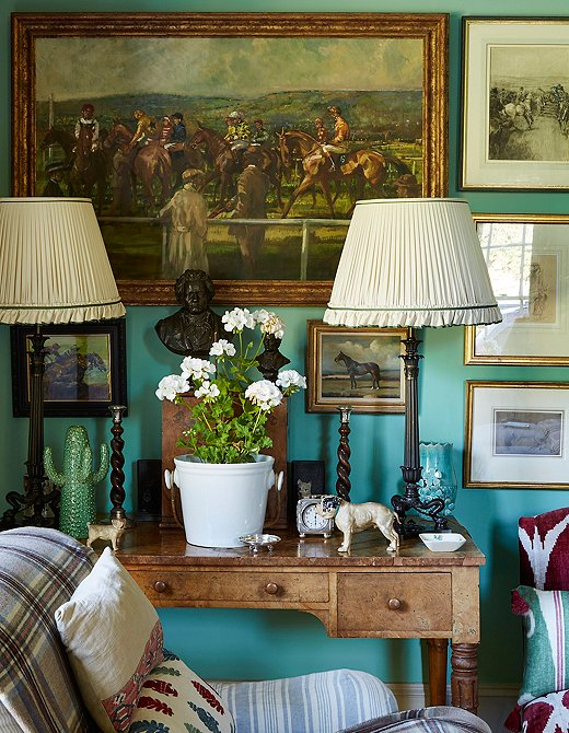 Penny Morrison's living room. The designer lives in Wales.