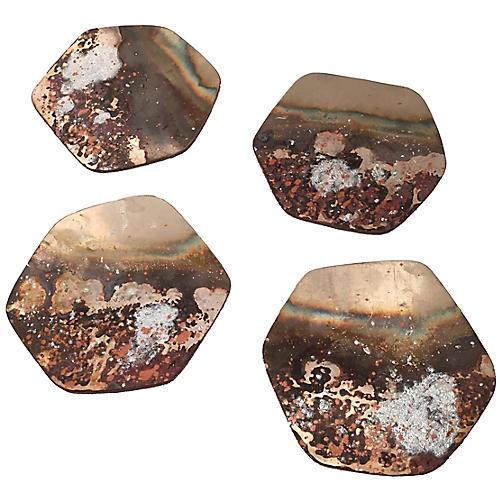 S/4 Patina Coasters, Bronze