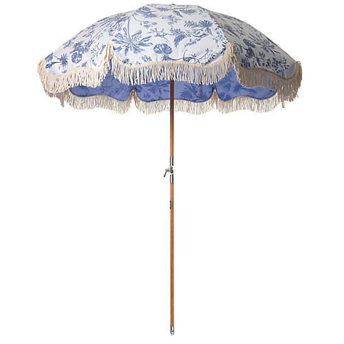 Premium Beach Umbrella, Chinoiserie