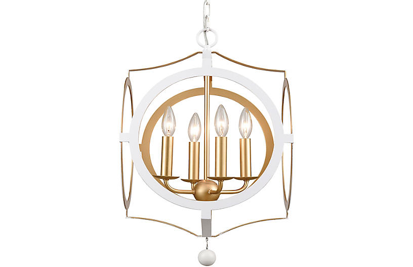 Odelle Chandelier, White