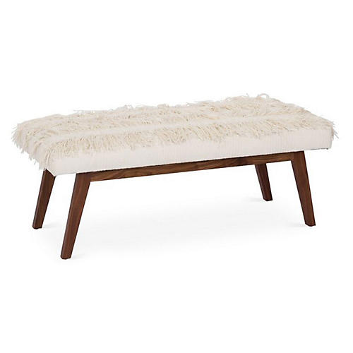 Bleeker Bench, Cream Linen