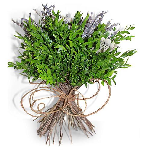 """13"""" Boxwood & Lavender Arrangement, Dried"""