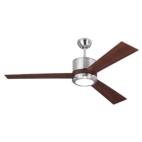 Vision Ceiling Fan, Walnut/Steel