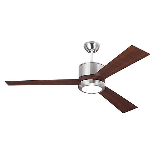 Vision Ceiling Fan, Walnut/Steel
