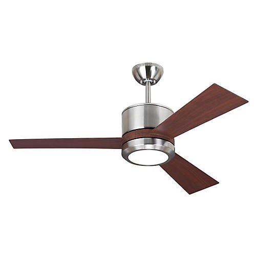 Vision II Ceiling Fan, Walnut/Steel