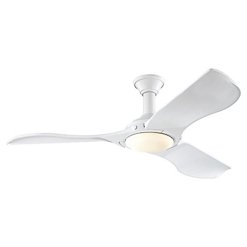 Minimalist Ceiling Fan, Matte White