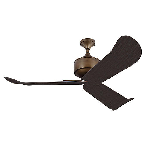 Dylan Ceiling Fan, Weathered Oak/Brass