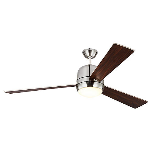 Owen Ceiling Fan, Brushed Steel