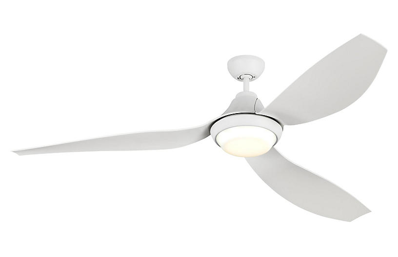 Avvo Ceiling Fan, Matte White