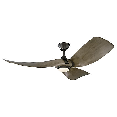 Melody Ceiling Fan, Weathered Oak/Pewter