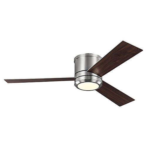 Clarity LED Ceiling Fan, Brushed Steel