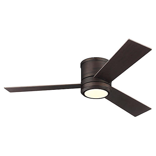 Clarity LED Ceiling Fan, Roman Bronze
