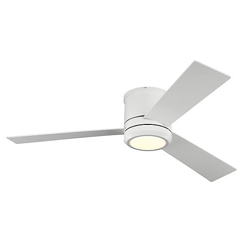 Clarity LED Ceiling Fan, Matte White