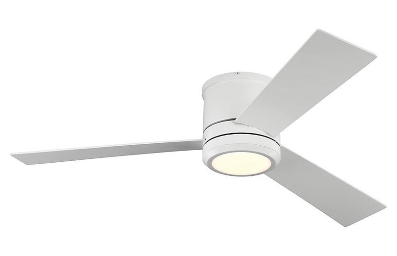 Clarity LED Ceiling Fan, Matte White