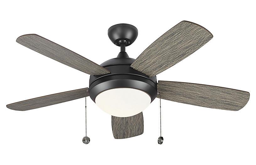 Discus Classic II Ceiling Fan, Weathered Oak