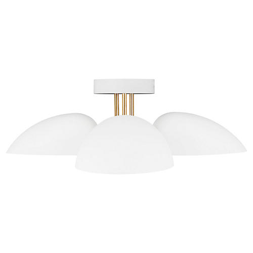 Jane 3-Light Flush Mount, Matte White