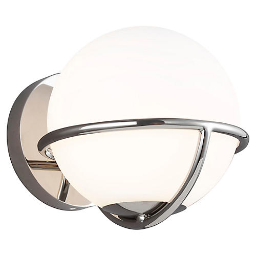 Apollo Sconce, Polished Nickel
