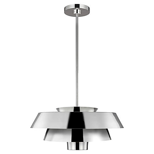 Brisbin Pendant, Polished Nickel