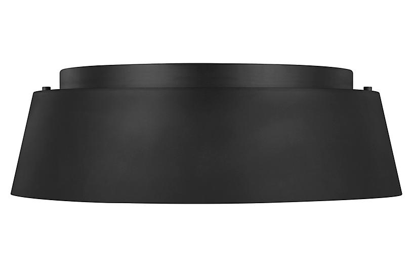 Asher 3-Light Flush Mount, Midnight Black