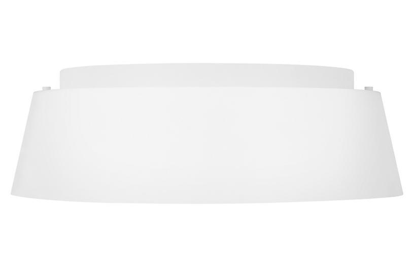 Asher 3-Light Flush Mount, Matte White
