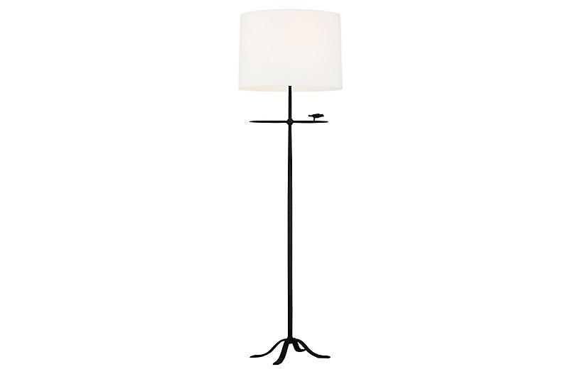 Caroline Floor Lamp, Aged Iron