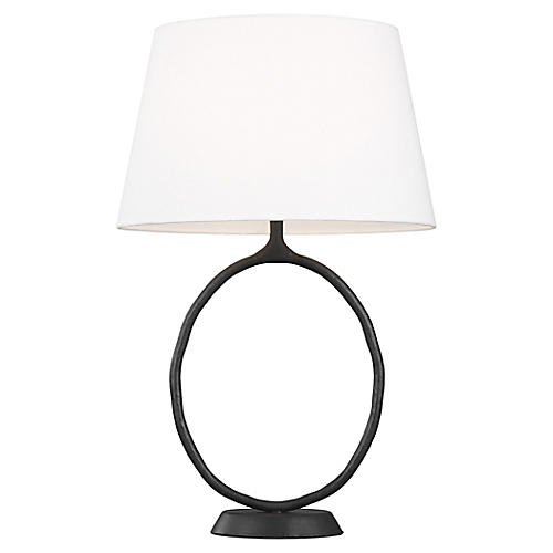 Indo Table Lamp, Aged Iron