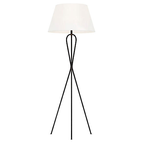 Francis Floor Lamp, Aged Iron