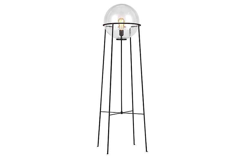 Atlas Floor Lamp, Aged Iron