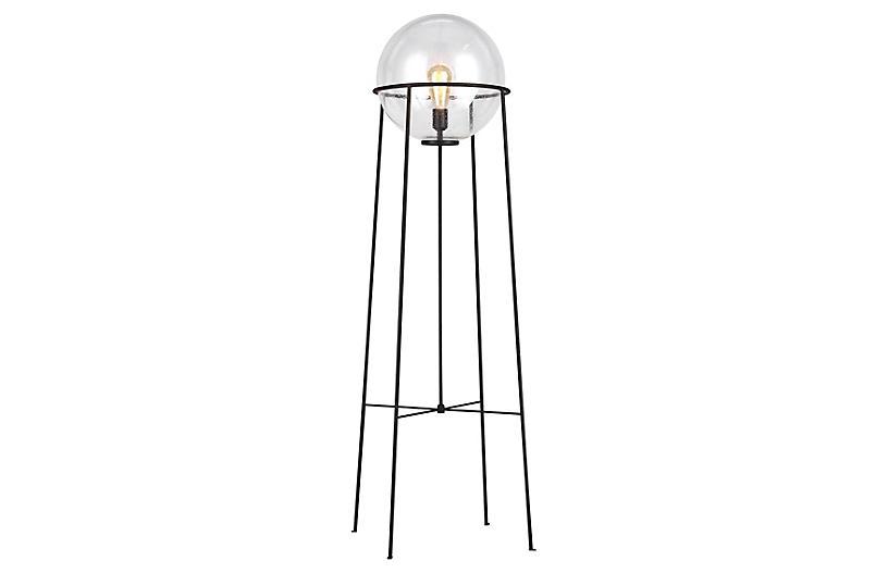 Atlas Floor Lamp, Aged Iron
