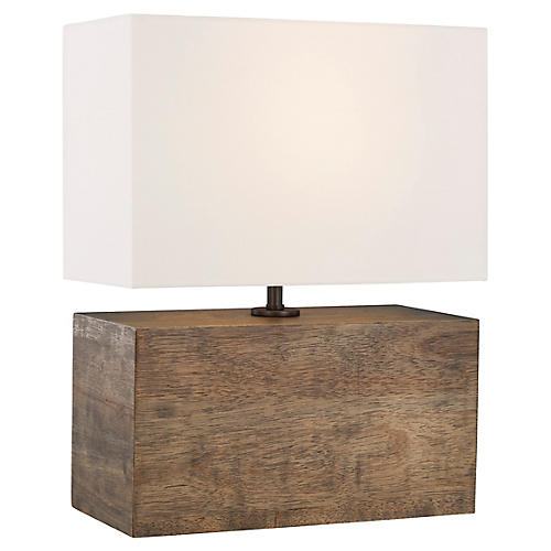 Redmond Table Lamp, Weathered Oak