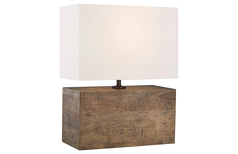 Redmond Table Lamp, Weathered Oak