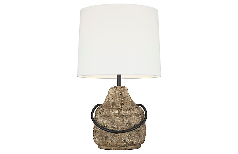 Augie Table Lamp, Stone