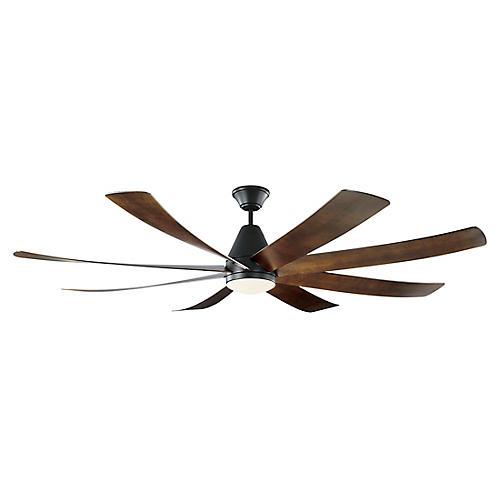 Kingston Ceiling Fan, Dark Walnut