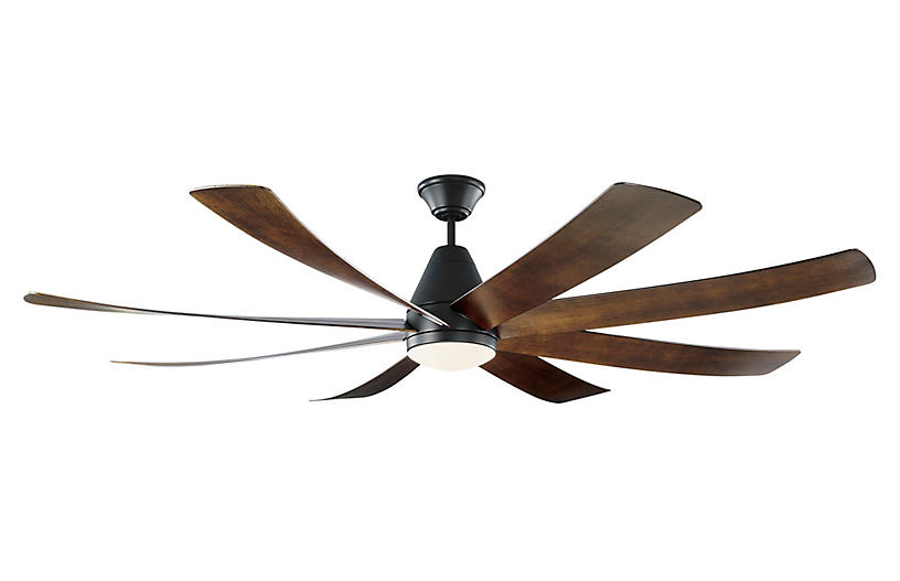 Kingston Ceiling Fan, Dark Walnut