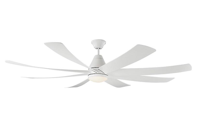 Kingston Ceiling Fan, Matte White