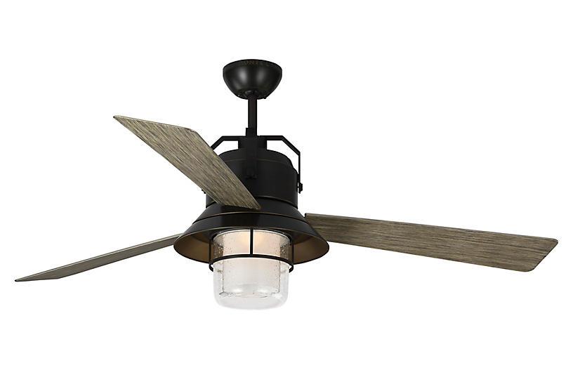 Boynton Ceiling Fan, Weathered Oak