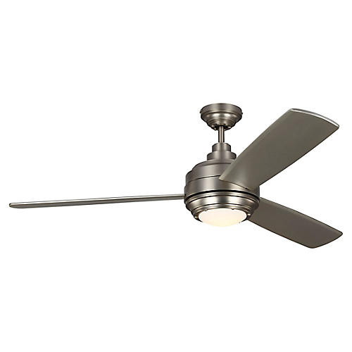Aerotour Ceiling Fan, Satin Nickel