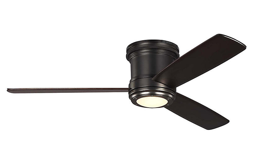 Aerotour Semi-Flush Ceiling Fan, Deep Bronze