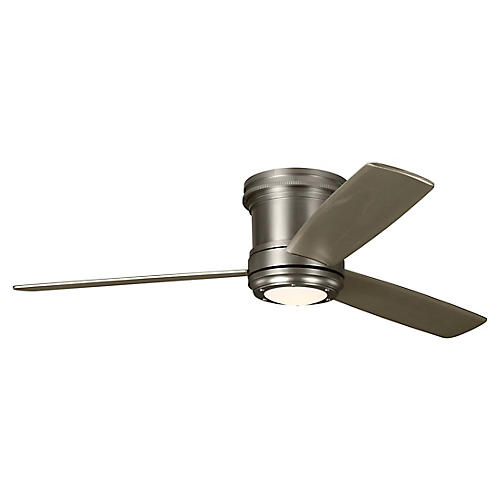 Aerotour Semi-Flush Ceiling Fan, Satin Nickel