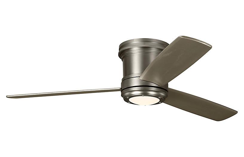Aerotour Semi-Flush Ceiling Fan, Satin Nickel