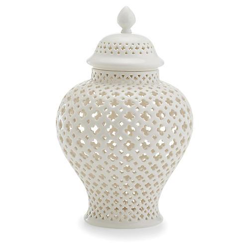 Henley Covered Lantern, White