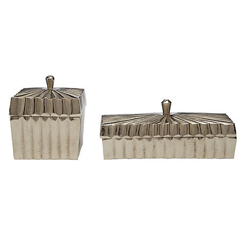 Asst. of 2 Talan Boxes, Silver