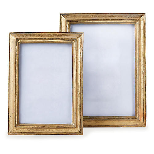 Asst. of 2 Kamen Picture Frames, Gold Leaf