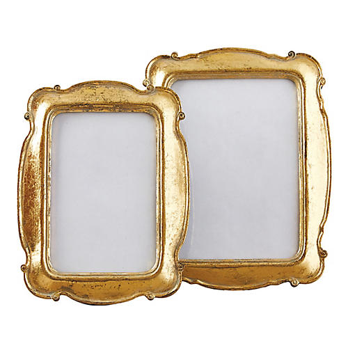 Asst. of 2 Britton Picture Frames, Gold Leaf