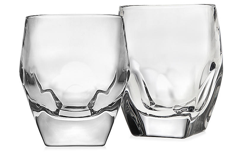 S/2 Symone DOF Glasses, Clear